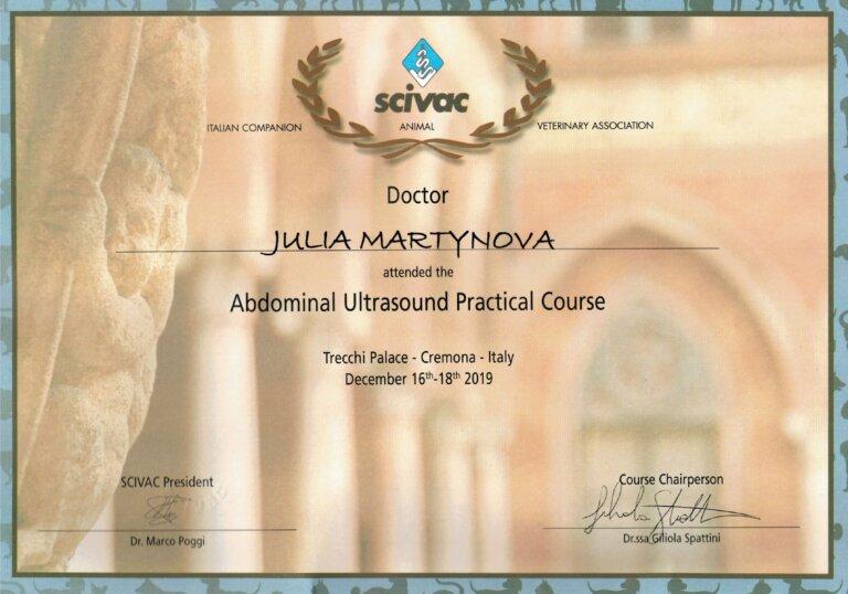 Сертификат УЗИ с доплерографией